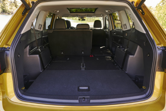 2018 volkswagen suv cargo space. Black Bedroom Furniture Sets. Home Design Ideas