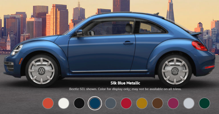 volkswagen beetle exterior color options