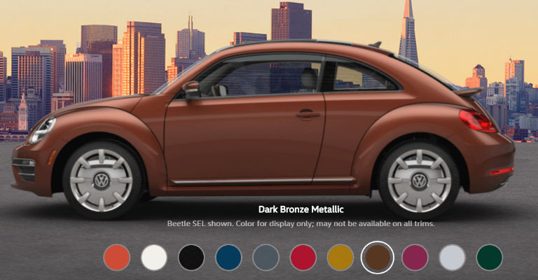 2017 Volkswagen Beetle Exterior Color Options