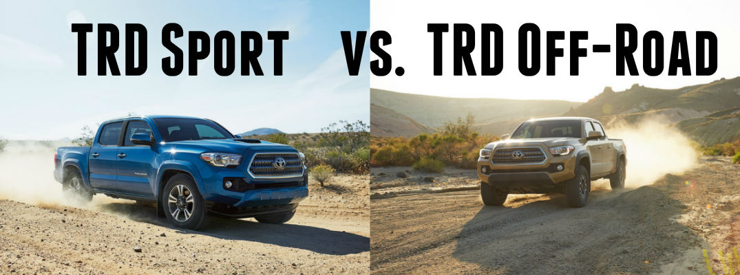 what s the difference between the 2016 tacoma trd sport and trd off road. Black Bedroom Furniture Sets. Home Design Ideas