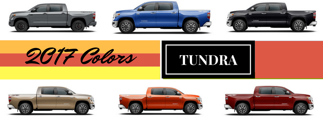 2017 Toyota Tundra Exterior Colors and Accessories