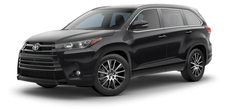 highlander toyota midnight le colors exterior trims plus xle vs limited trim