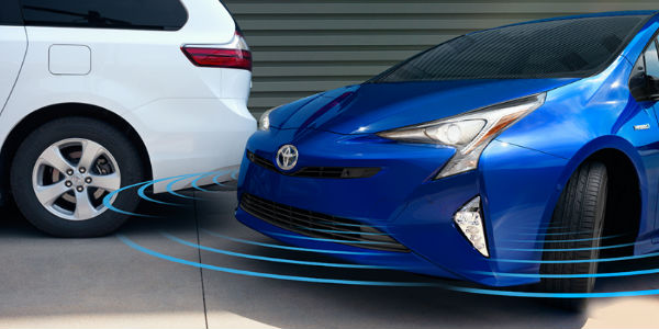 Parking Assist Features on 2017 Toyota Prius in Blue