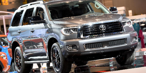 2018 Toyota Sequoia TRD Sport Exterior View in Silver