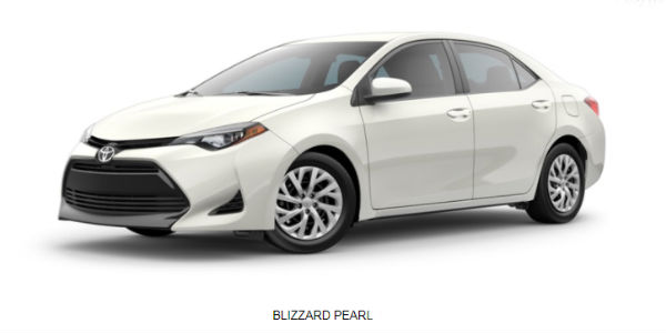 2018 Toyota Corolla Color Options And Trim Level Information