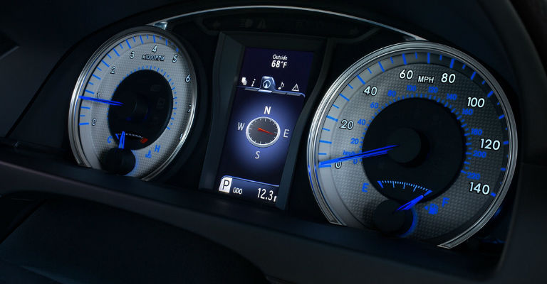 2016 Camry Special Edition blue meter cluster