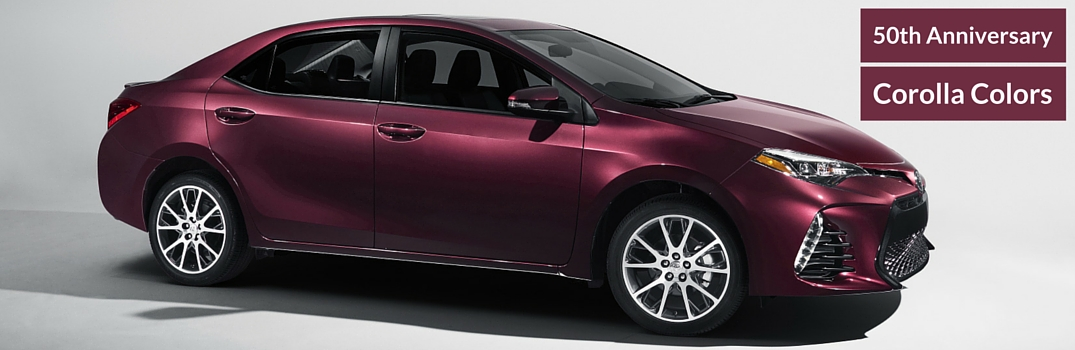 2017 toyota corolla 50th anniversary color options. Black Bedroom Furniture Sets. Home Design Ideas