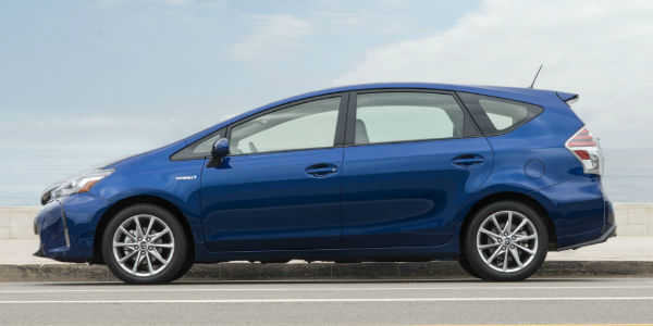 2017 Toyota Prius V Exterior View of Side in Blue