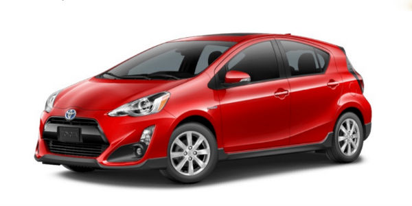 2017 Toyota Prius C in Absolutely Red