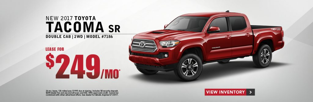 2017 toyota tacoma current offer toyota leasing autos post. Black Bedroom Furniture Sets. Home Design Ideas