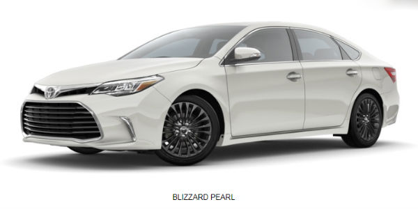 2018 Toyota Avalon Color Options And Customization Choices