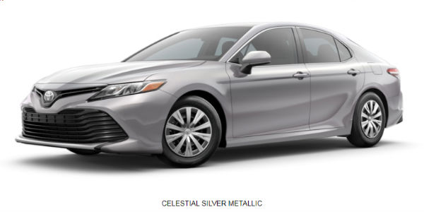 2018 Toyota Camry Exterior Color Choices And Model Grade Lineup