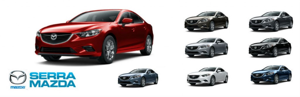 Color options available on the 2016 Mazda 6