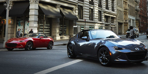 2017 Mazda MX-5 Miata RF Exterior View in Red and Blue