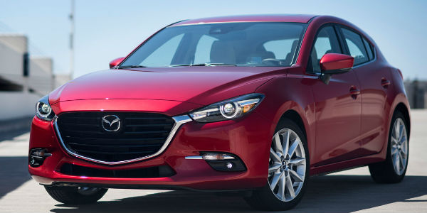 Mazda3 Exterior View in Red