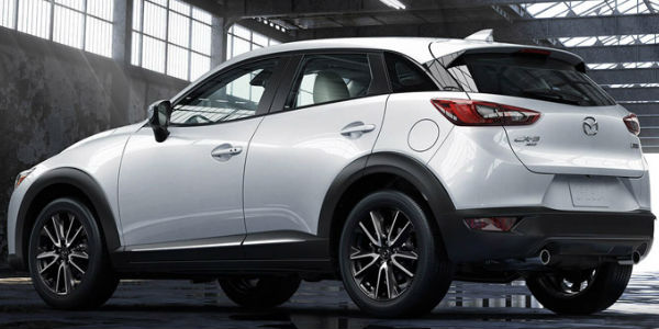 Exterior Side View of Mazda CX-3 in White