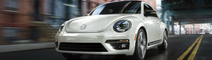2016 vw beetle in white