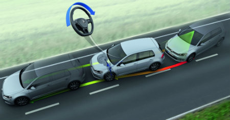 volkswagen with lane departure warning system