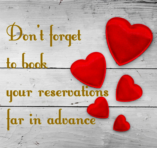 book reservations for valentines day in thousand oaks ca