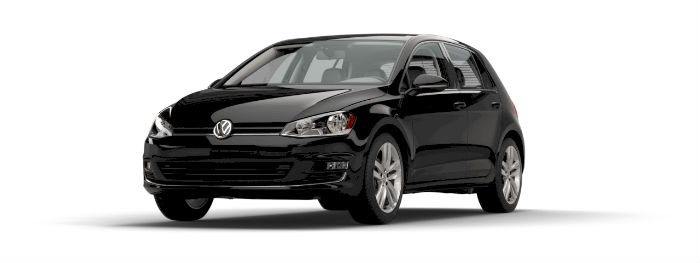 2016 vw golf in black paint color