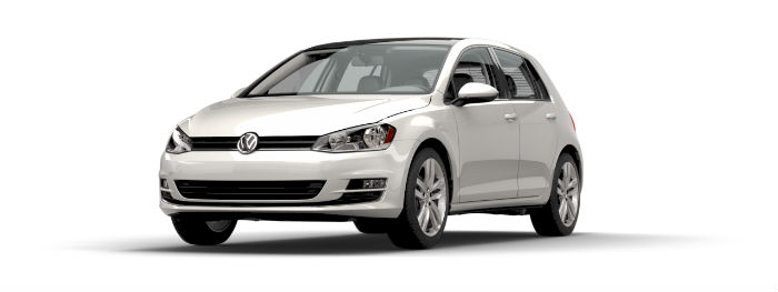 2016 vw golf in pure white paint color