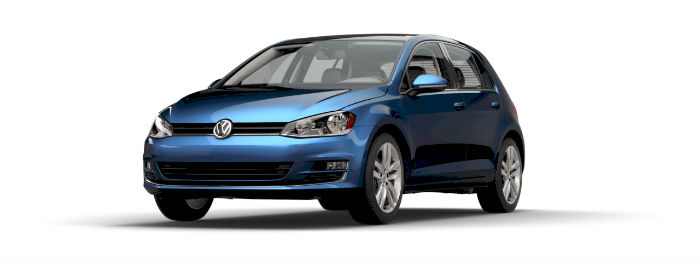 2016 vw golf in silk blue metallic paint color