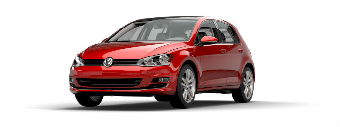 2016 vw golf in tornado red paint color