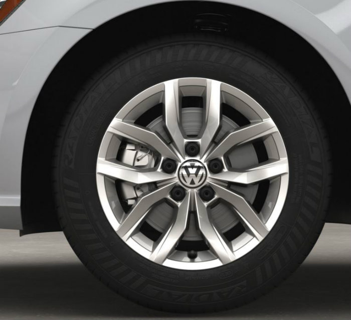standard wheel design on the 2016 vw passat s