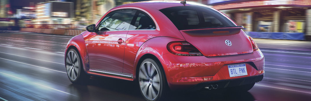 pink 2017 vw beetle rear hatch bumper design
