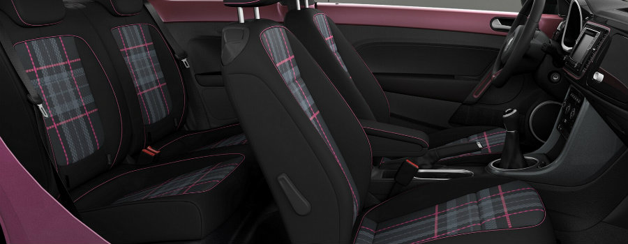 seat design color in the 2017 vw pink beetle