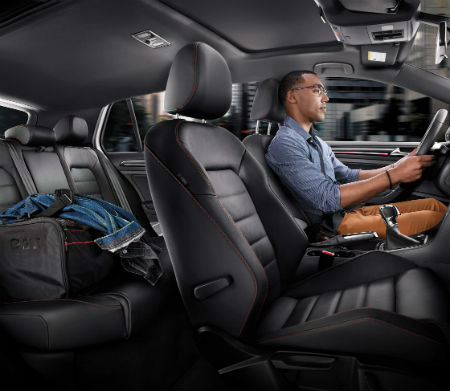 2016 vw golf gti passenger space and legroom leg room
