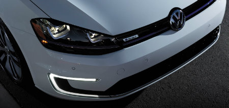 vw e-golf front grille fascia design