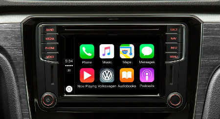 apple carplay in the 2016 vw passat