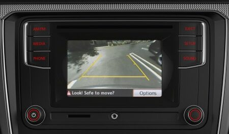 passat rearview camera