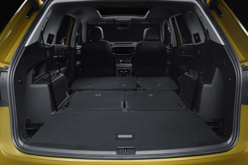 2018 volkswagen atlas exterior rear cargo space seats folded