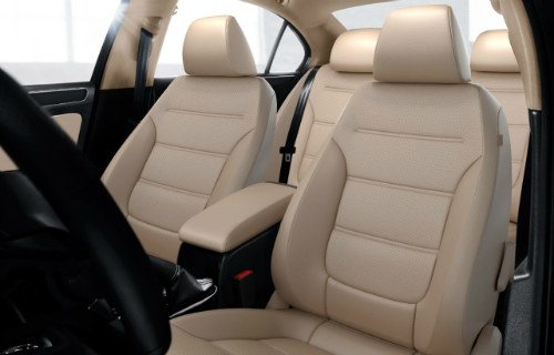 2017 VW Jetta Cornsilk Beige Leatherette seating