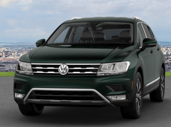 Dark Moss Green Metallic Tiguan
