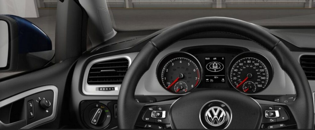 Titan Black VW Golf interior