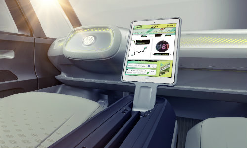 Volkswagen I.D. BUZZ interior and tech features