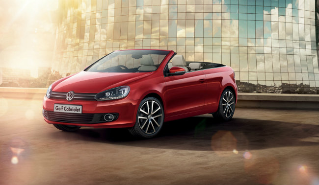 Red 2016 Volkswage Golf Cabriolet