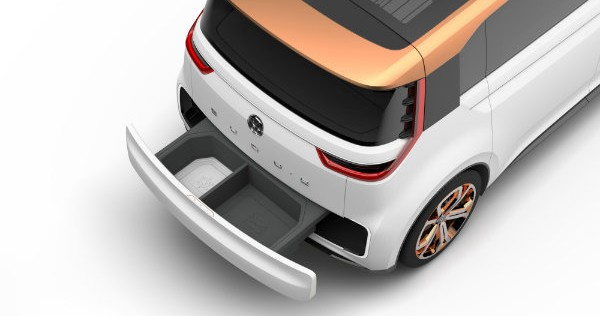 Volkswagen BUDD-e electric van concept cargo drawer