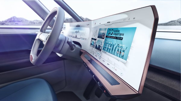 Volkswagen BUDD-e electric van concept digital dashboard