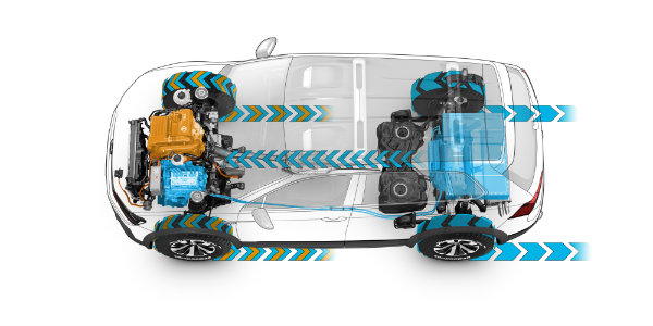 VW Tiguan GTE Active Powertrain
