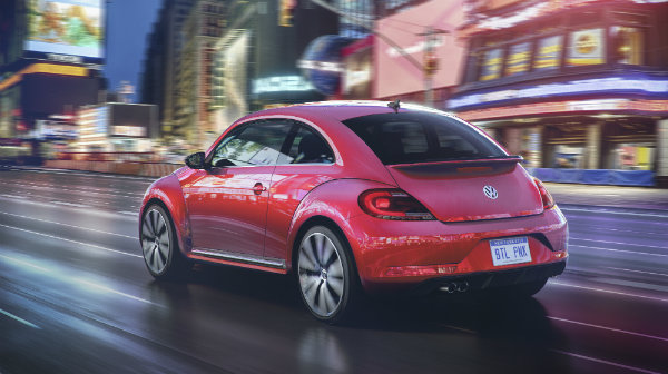 2017 Pink Beetle Rear View Hatchback