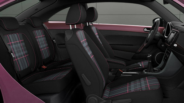 2017 Pink Beetle interior pre production