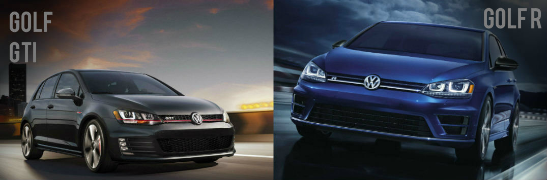 Differences Between 2015 VW Golf GTI vs 2015 VW Golf R engine specs and performance horsepower and torque manual transmission