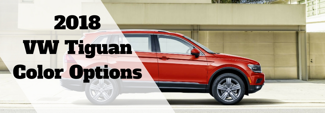 2018 Volkswagen Tiguan Exterior Color Options