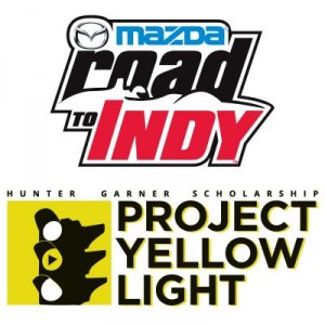 Mazda 4 distracted driving road to indy