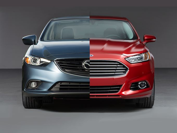 the ford fusion faces off against the mazda6. Black Bedroom Furniture Sets. Home Design Ideas