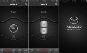 Mazda 4 mobile app with remote vehicle features